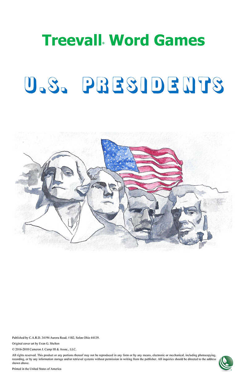 Treevall™ Word Game – U.S. Presidents
