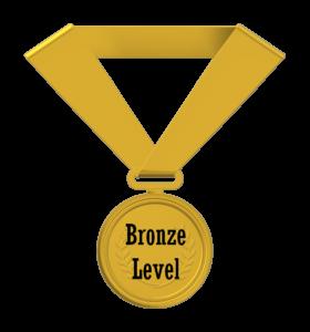 bronze level credential medal
