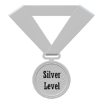 silver level credential medal